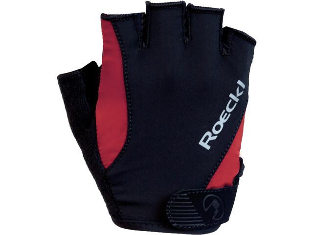 Roeckl Basel Gants, black/red